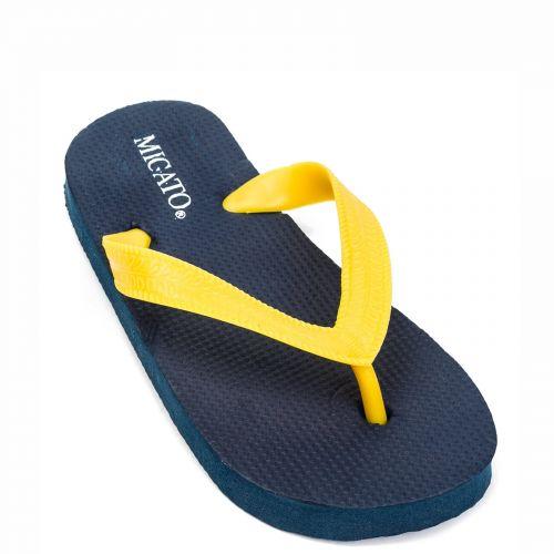 Kid's yellow beach slipper with thong