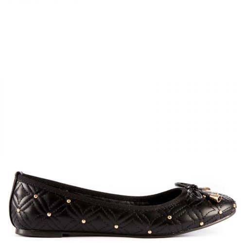 Black ballet flat with bow