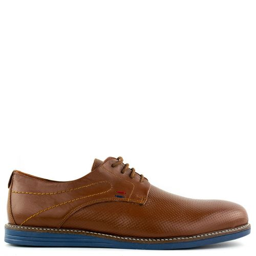 Men's tabacco leather derby