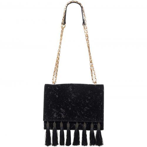 Μαύρη τσάντα με παγιέτες