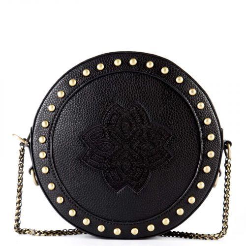 Μαύρη στρογγυλή τσάντα crossbody