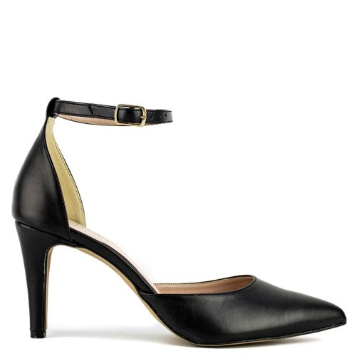 Black pump with anklestrap