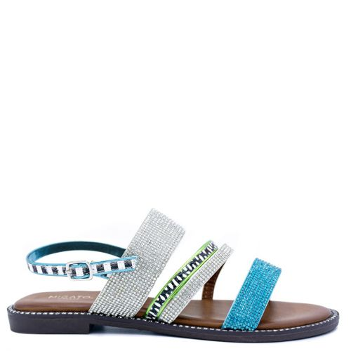 Blue multistrap sandal