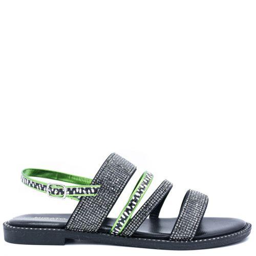 Black multistrap sandal