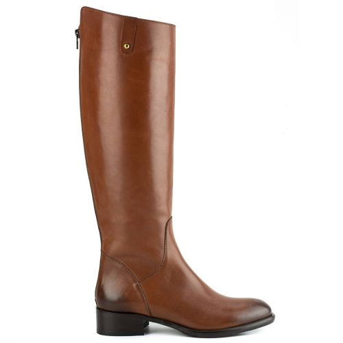 Tobacco leather riding boot