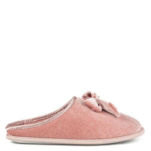 Pink velvet slipper