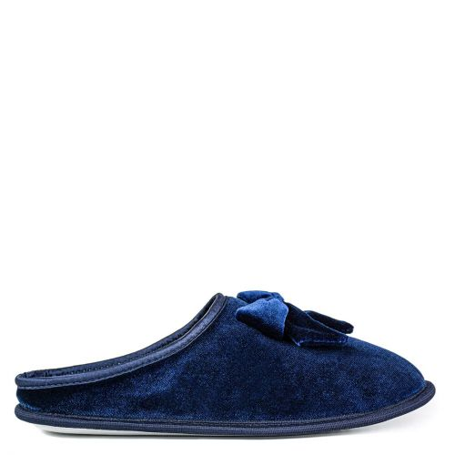 Dark blue velvet slipper