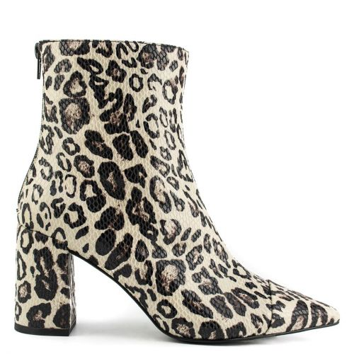 Leopard animal print high heel bootie