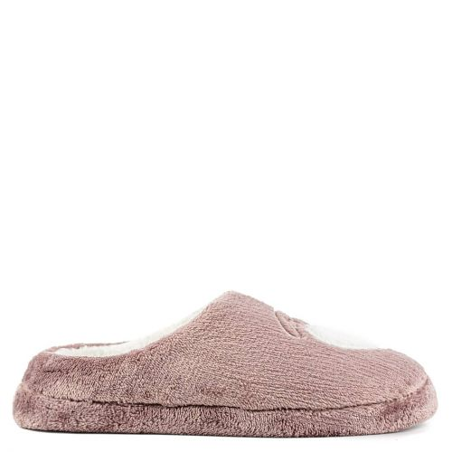 Pink slipper with heart