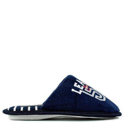 Kid's dark blue slipper with stamp