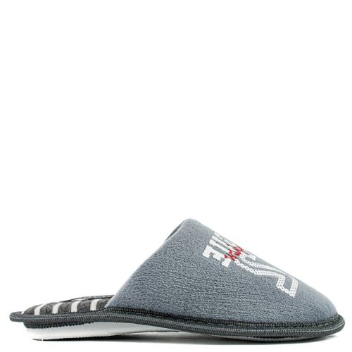 Kid's grey slipper with stamp