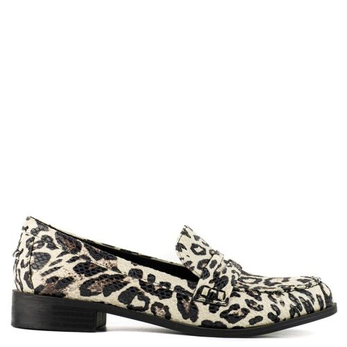 Snakeskin penny loafer