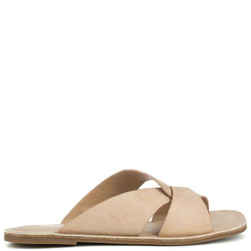 Nude flat sandal