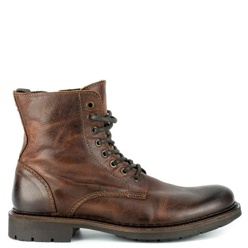 Men's brown leather boot