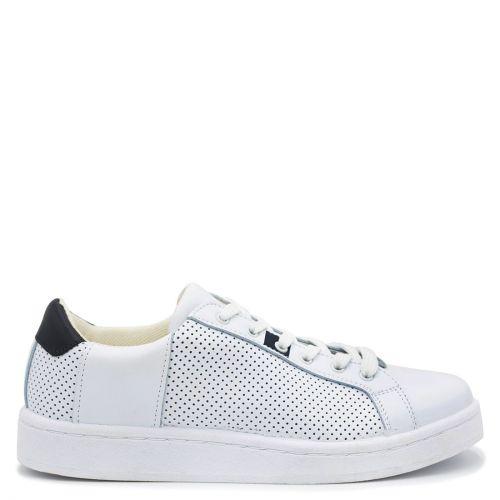 Ανδρικό δερμάτινο λευκό sneaker
