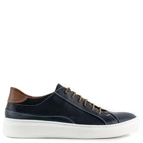 Mens blue leather sneaker