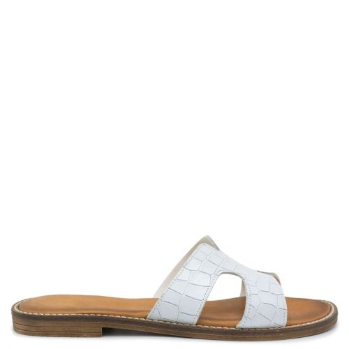 White leather sandal
