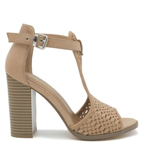 Taupe high heel sandal