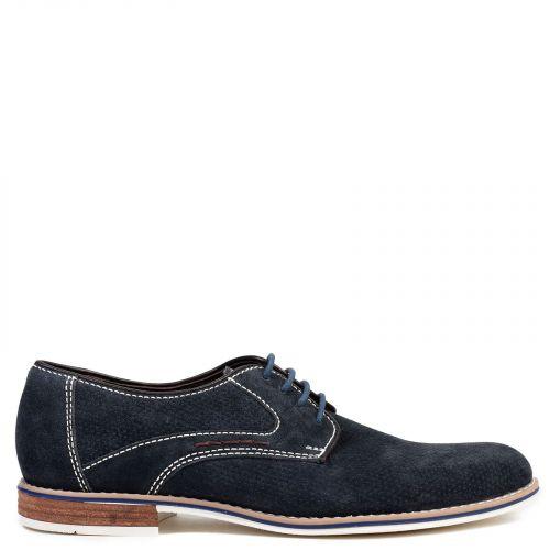 Men's navy leather Oxford