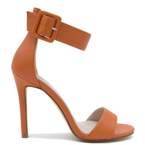Orange high heel sandal
