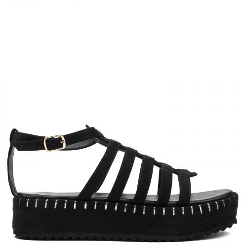 Black multistrap flatform
