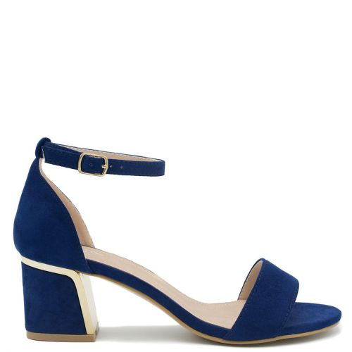 Blue sandal with block heel
