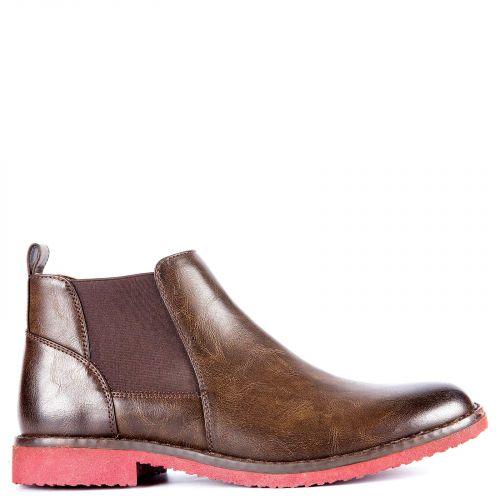 Brown men's low cut boot