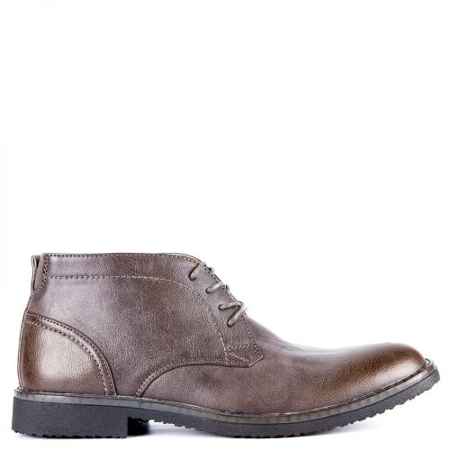 Grey men's low cut boot