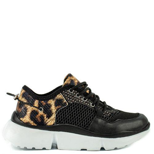 Black sneaker with net