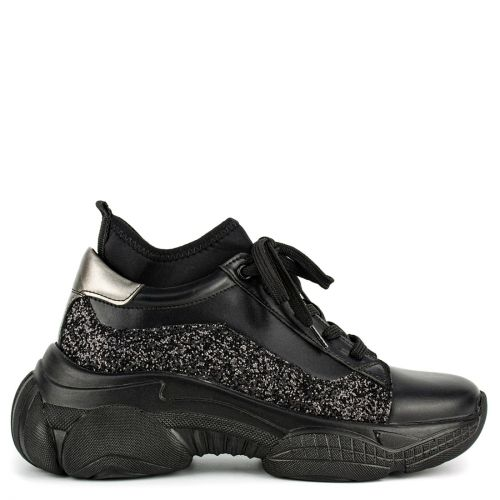Black sneaker with glitter