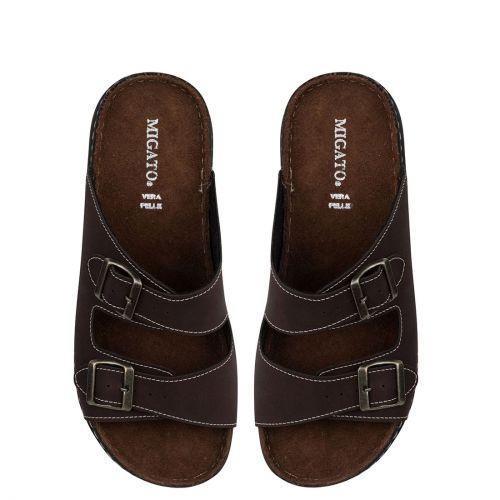 Men's brown beach sandal