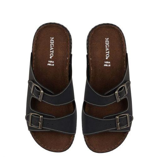 Men's black beach sandal