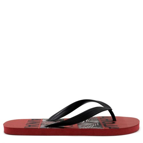 Men's flip-flop with black thong and insole print