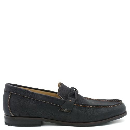 Ανδρικό μπλε δερμάτινο loafer