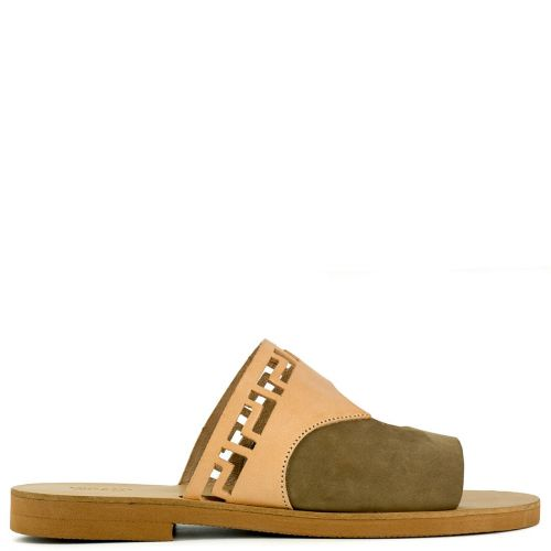 Beige/Taupe Grecious leather sandal