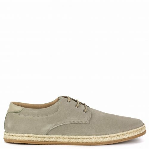 Men's taupe leather espadrille