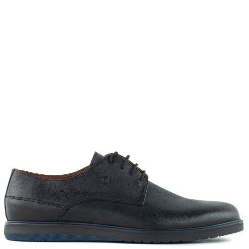 Men's black leather shoe