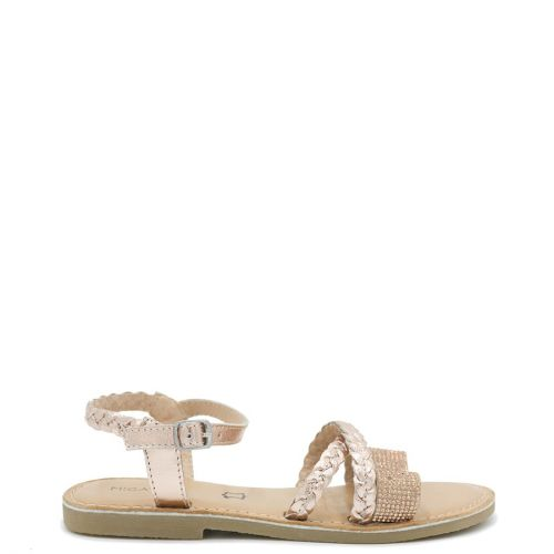 Kid's rose gold sandal with rhinestones
