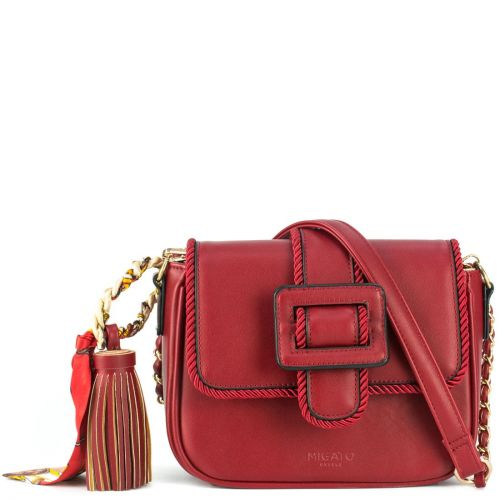 Red bag with scarf