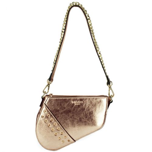 Pinkgold metallic shoulder bag