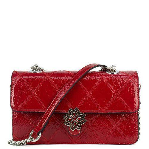 Κόκκινη τσάντα λουστρίνι καπιτονέ