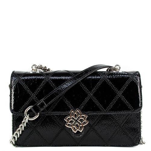 Μαύρη τσάντα λουστρίνι καπιτονέ