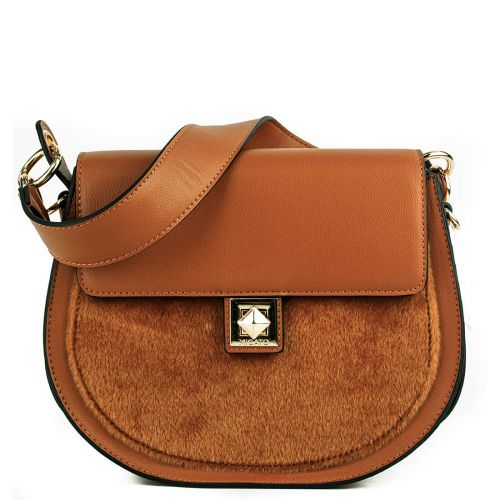 Tan color saddle bag