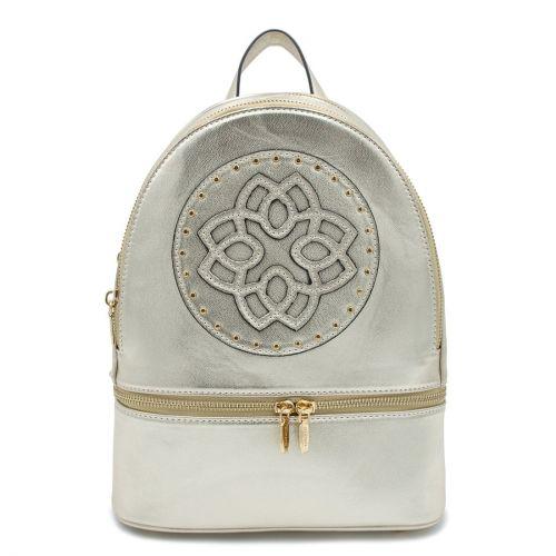 Light gold metallic backpack