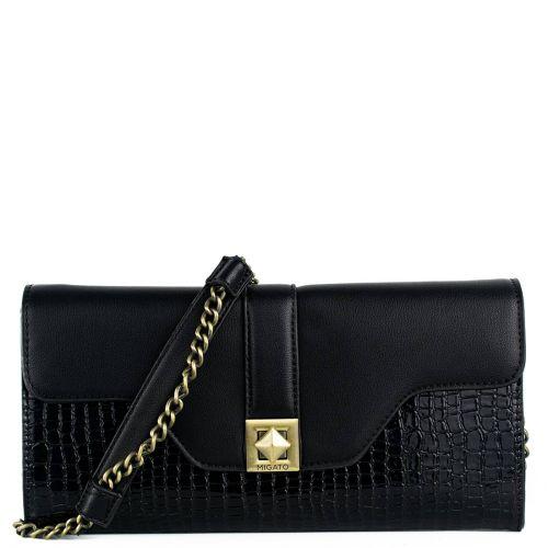 Black crocdile envelope
