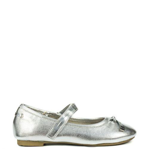 Kid's silver metallic ballerinas