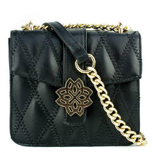 Black mini bag with a flap
