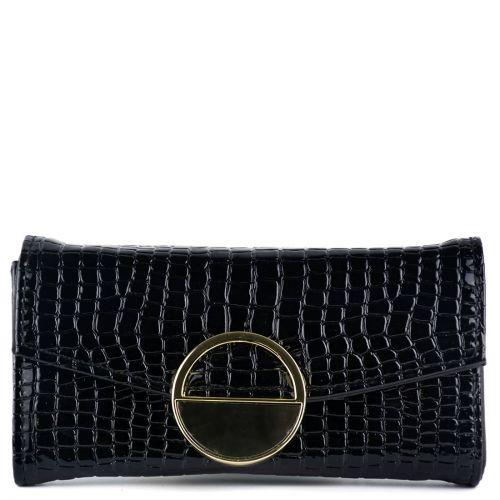 Black croc wallet