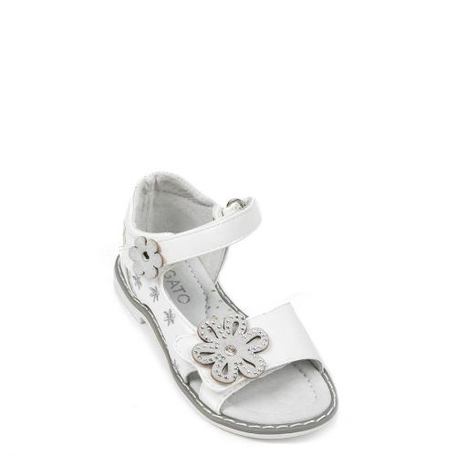 Kids white sandal with flowers