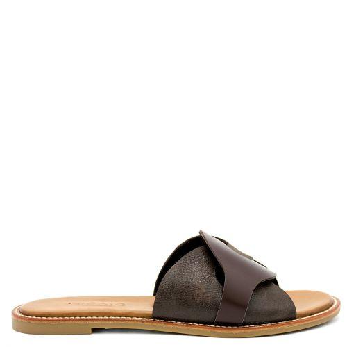 Brown leather sandal